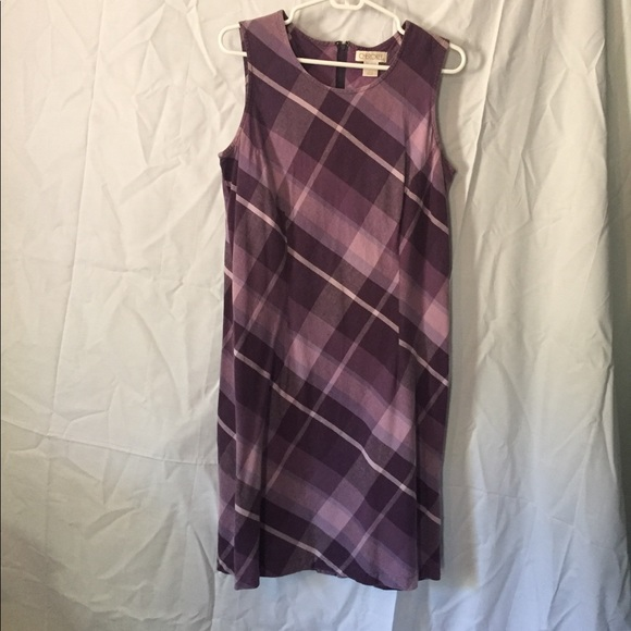 Cherokee Dresses & Skirts - Purple plaid tank dress.